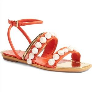 Tory Burch Sinclair Seashell Sandal Ankle Strap